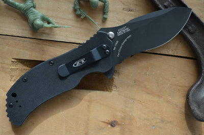 Zero Tolerance 0350ST Assisted Flipper - Partial Serrated Blade