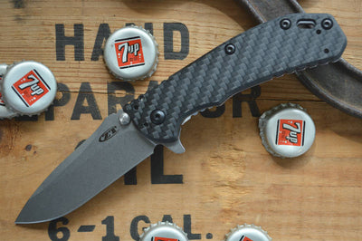 Zero Tolerance 0566CF Hinderer Designed Assisted Flipper - Carbon Fiber
