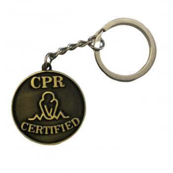 CPR Certified Metal Key Chain