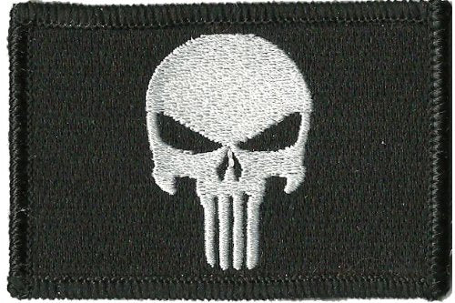 Punisher Tactical Patch – Black