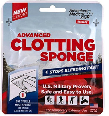 Quik Clot Advanced Clotting Sponge 3.5 x 3.5 Inch