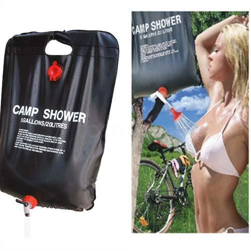 20L Solar Outdoor Camping Shower Showering Water Heater Heating Bag