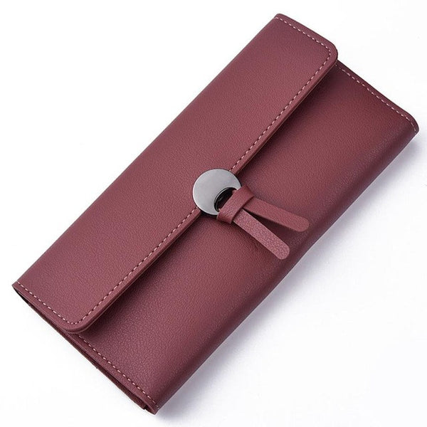 Leather Wallet Clutch