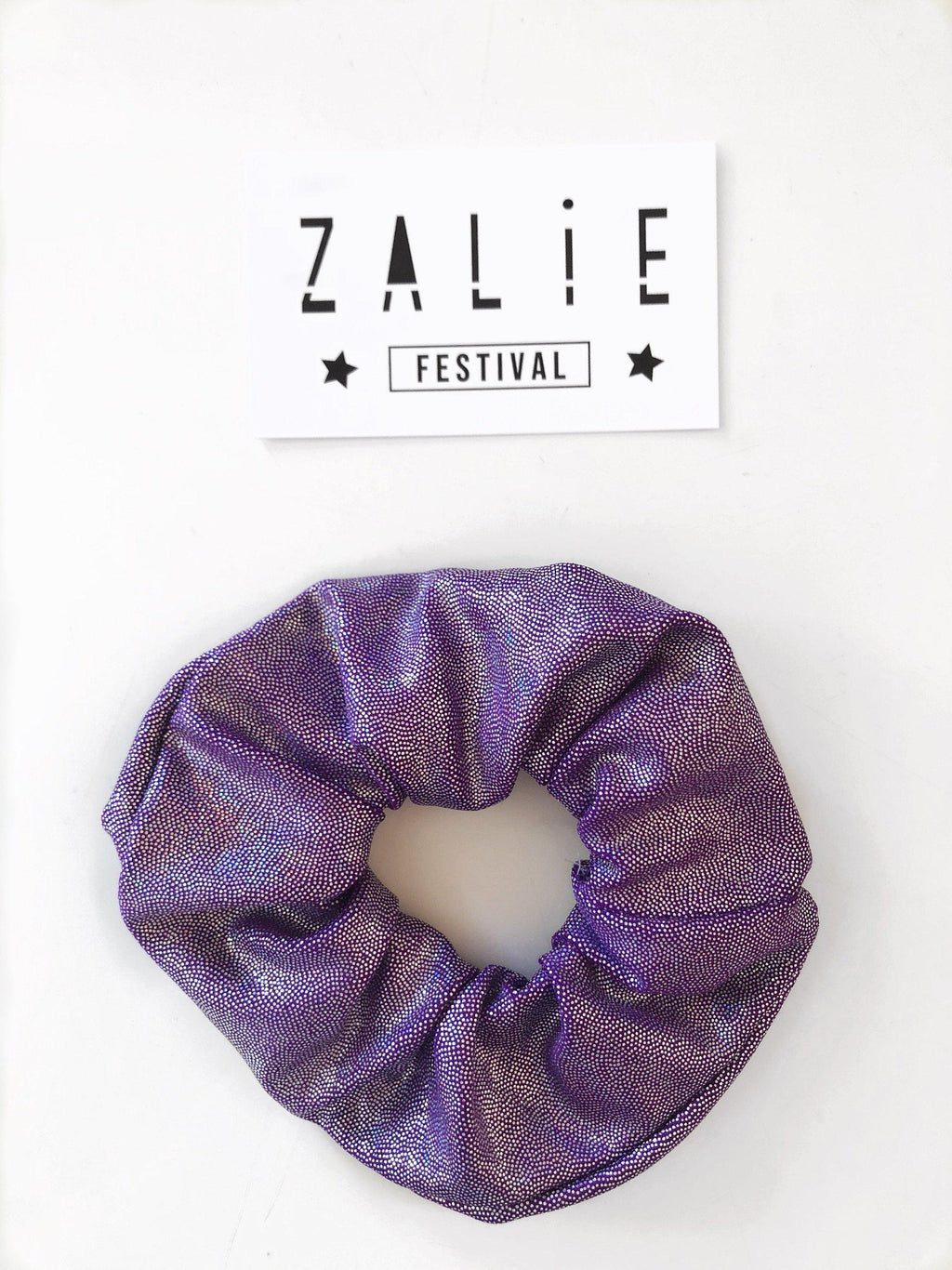 Purple Gum Drop Scrunchie - Zalie Festival Wear