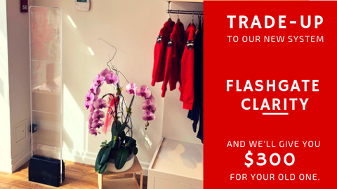 Flashgate Clarity Trade Up Event $300 Off new systems.