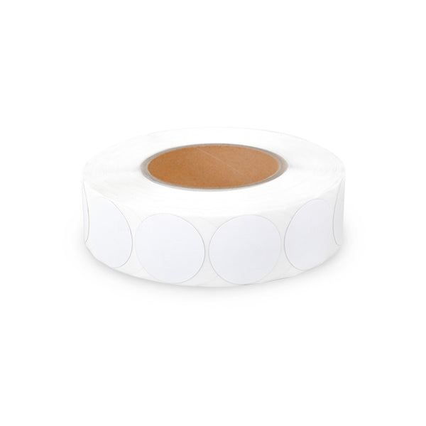 White Round 30mm Label (1000/roll, 8.2MHz)