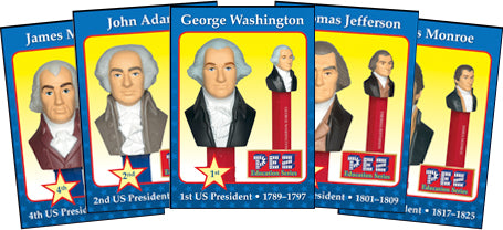Presidential Trading Cards PEZ