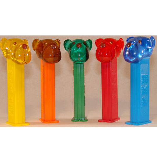 Barky Brown Crystal PEZ Dispensers