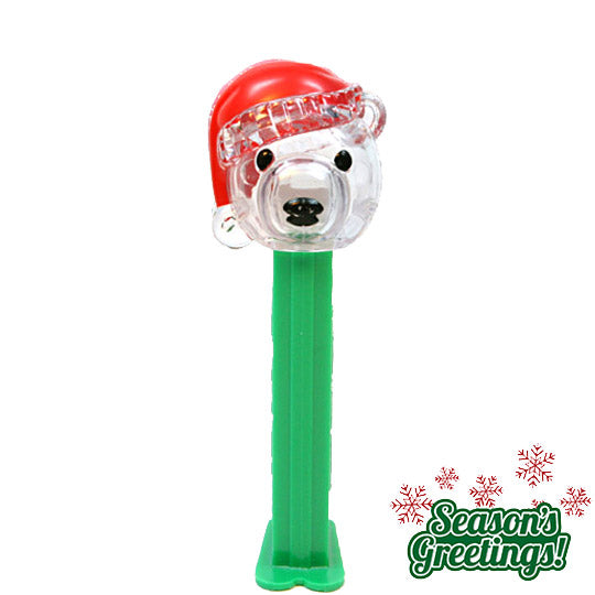 Crystal Polar Bear w/Santa hat