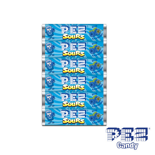 Sour Blue Raspberry PEZ - 6 Pack