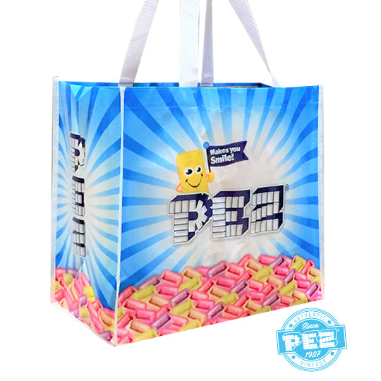PEZ Recycle Shopping Tote Bag Candy Tablet Design