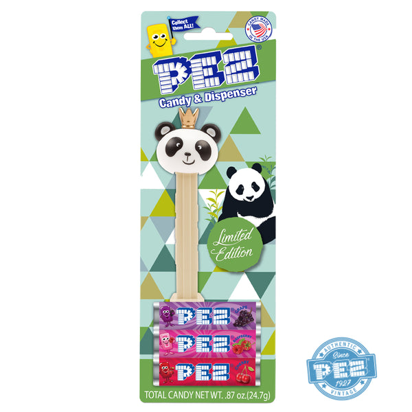 Limited Edition PEZ Panda w/crown