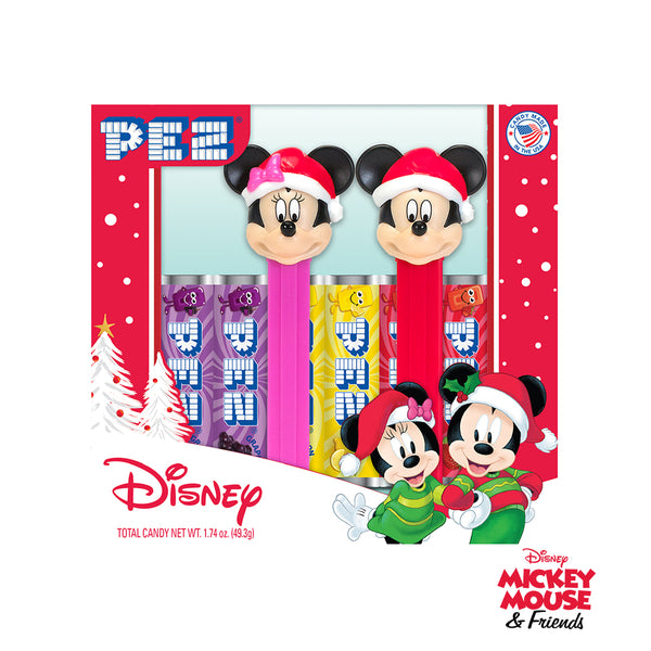 Mickey & Minnie Mouse Holiday PEZ Gift Set