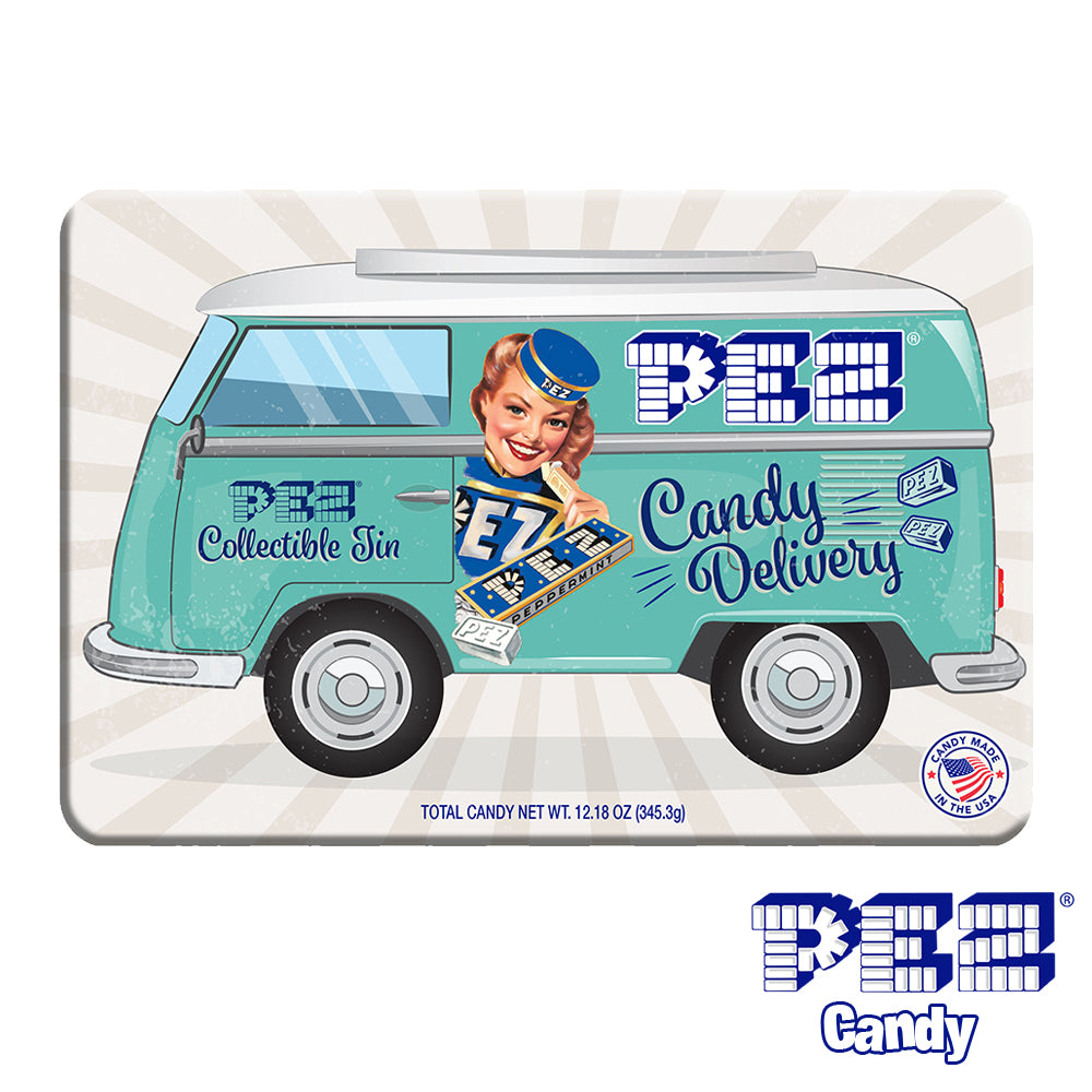 PEZ Candy Nostalgia Gift Tin (Exclusive Dispenser + Over 40 PEZ Refills)