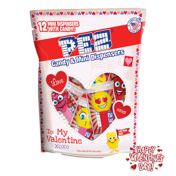 Valentine's Day PEZ Party Bag (12 pack - each Individually wrapped)