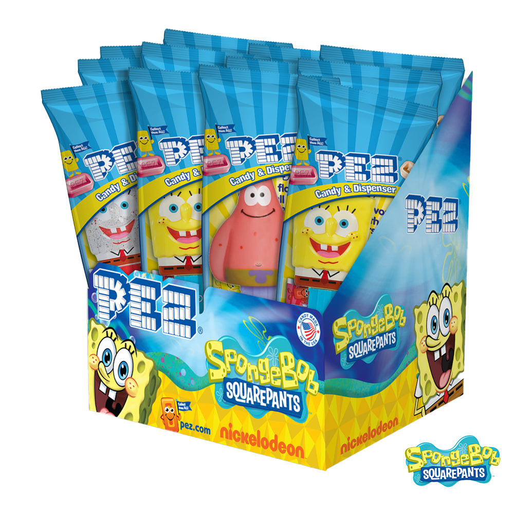 SpongeBob SquarePants PEZ - 12 count Party Pack