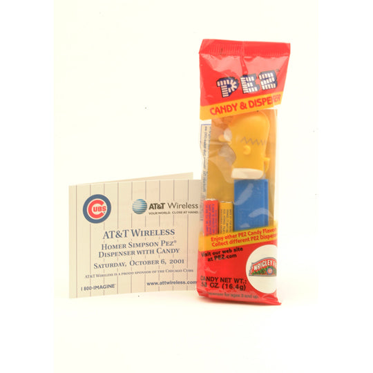 Chicago Cubs Homer Simpson PEZ Dispenser