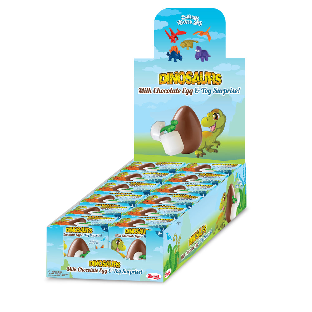 Zaini Milk Chocolate Egg & Dinosaur Surprise - 12 ct. Party Pack