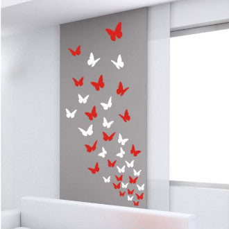 Butterflies Vinyl Wall Decal Set of 44 (2) Color
