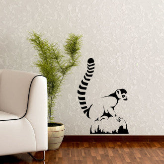 Lemur Monkey Vinyl Wall Decal