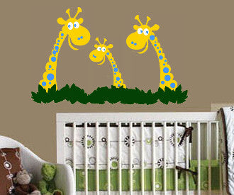 Giraffe Family Vinyl Wall Decal