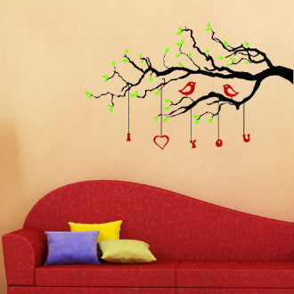 Love Branch with Birds Wall Decal Sticker 3 Color