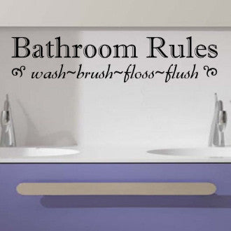 Bathroom Rules Vinyl Wall Decal Sticker