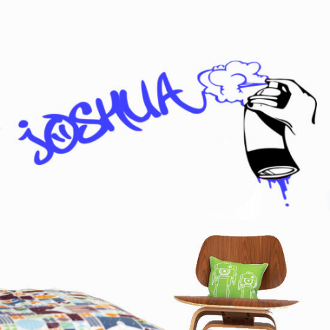 Graffiti & Spray Can Personalized Wall Decal 2 Colors