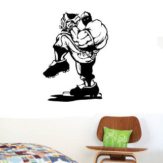 Baseball Pitcher Graphic Wall Decal Sticker