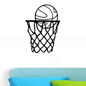 Basketball Net Graphic Wall Decal Sticker