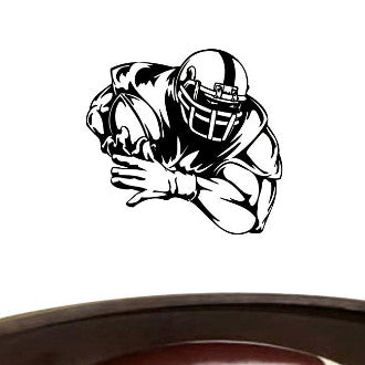 Football Player 02 Graphic Wall Decal Sticker