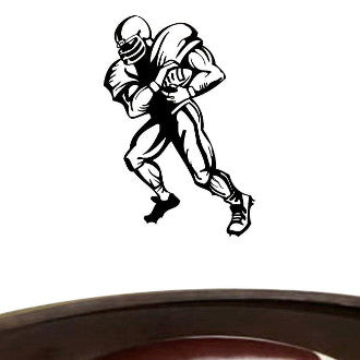 Football Player 03 Graphic Wall Decal Sticker