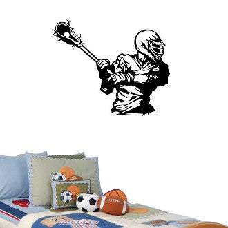 Lacrosse Player  Wall Decal Sticker
