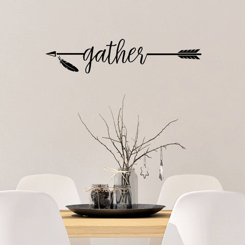 Gather Arrow Vinyl Wall Decal
