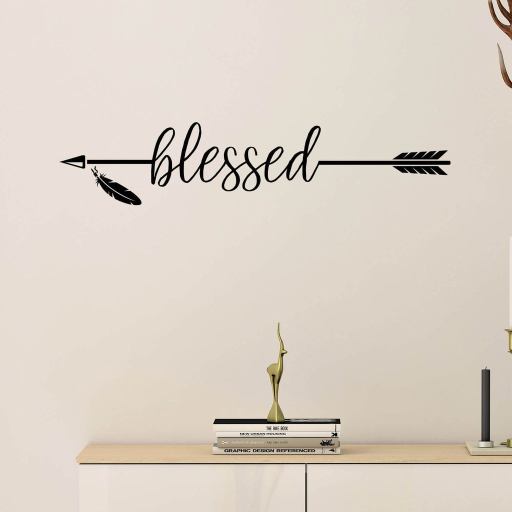 Blessed Arrow Vinyl Wall Decal