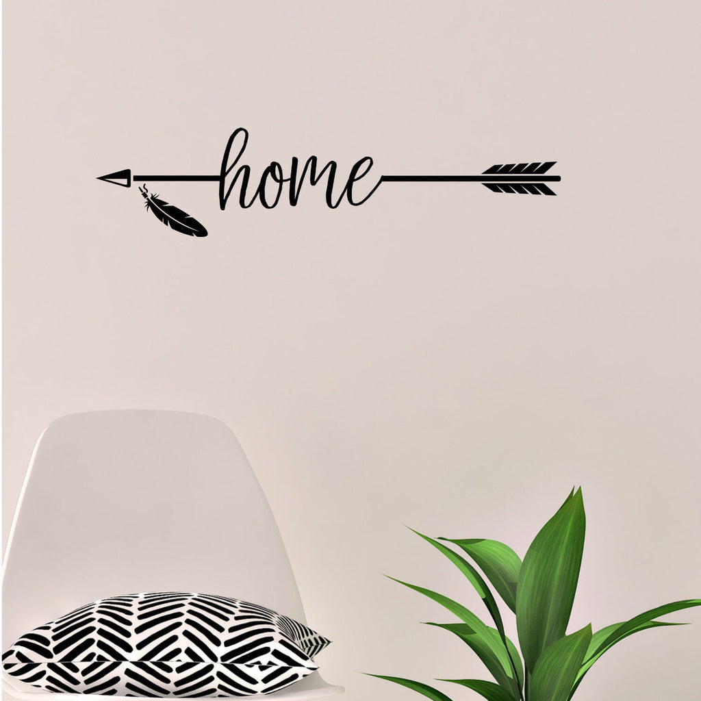 Home Arrow Vinyl Wall Decal