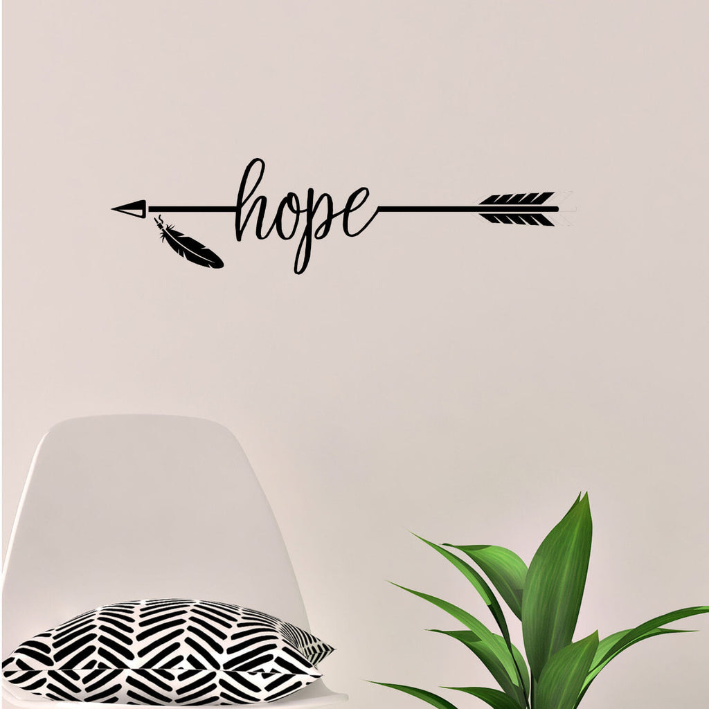 Hope Arrow Vinyl Wall Decal