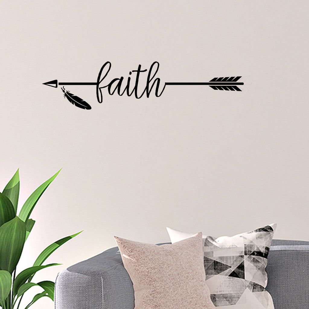 Faith Arrow Vinyl Wall Decal