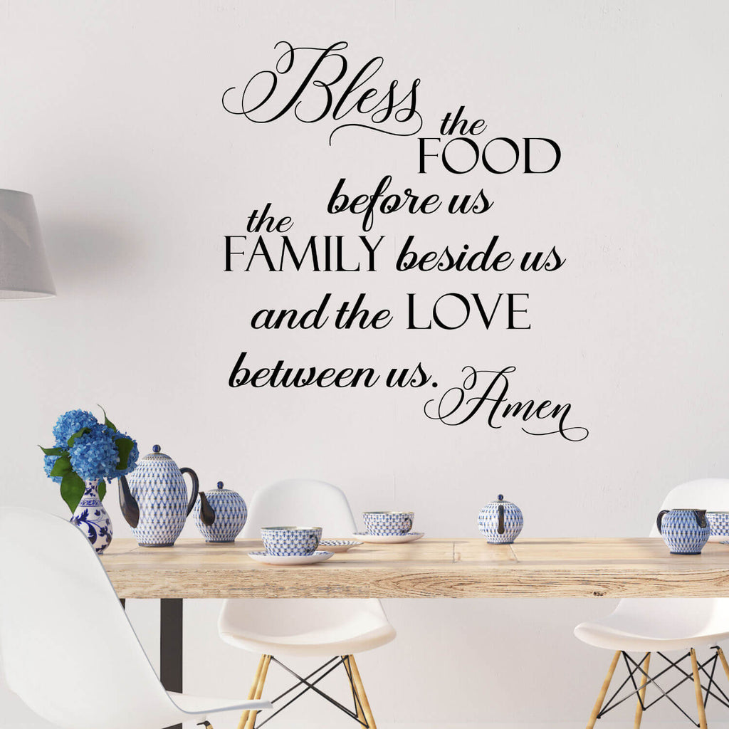 Bless the Food Before Us…Vinyl Wall Decal