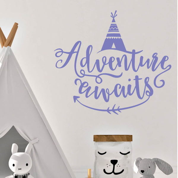 Adverture Awaits Vinyl Wall Decal