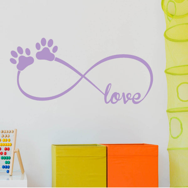 Infinity Paws Vinyl Wall Decal