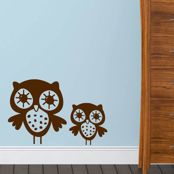 Owl Pair Wall Decal
