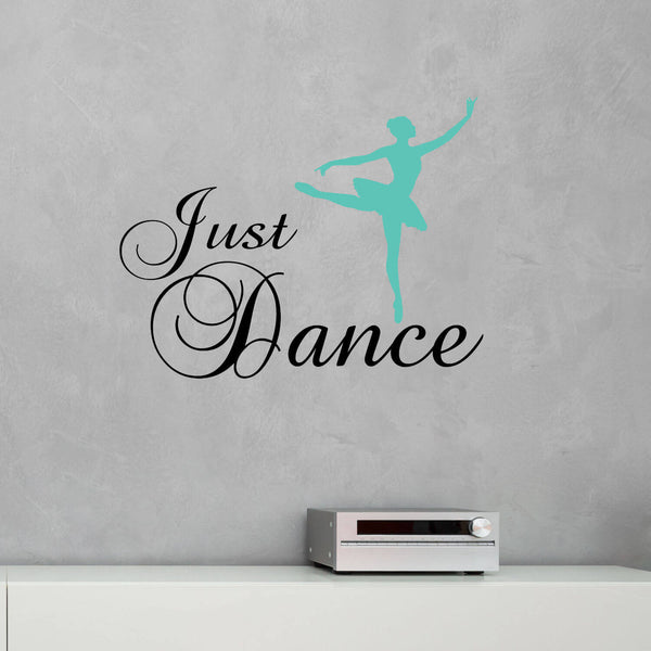 Just Dance with Ballerina Vinyl Wall Decal