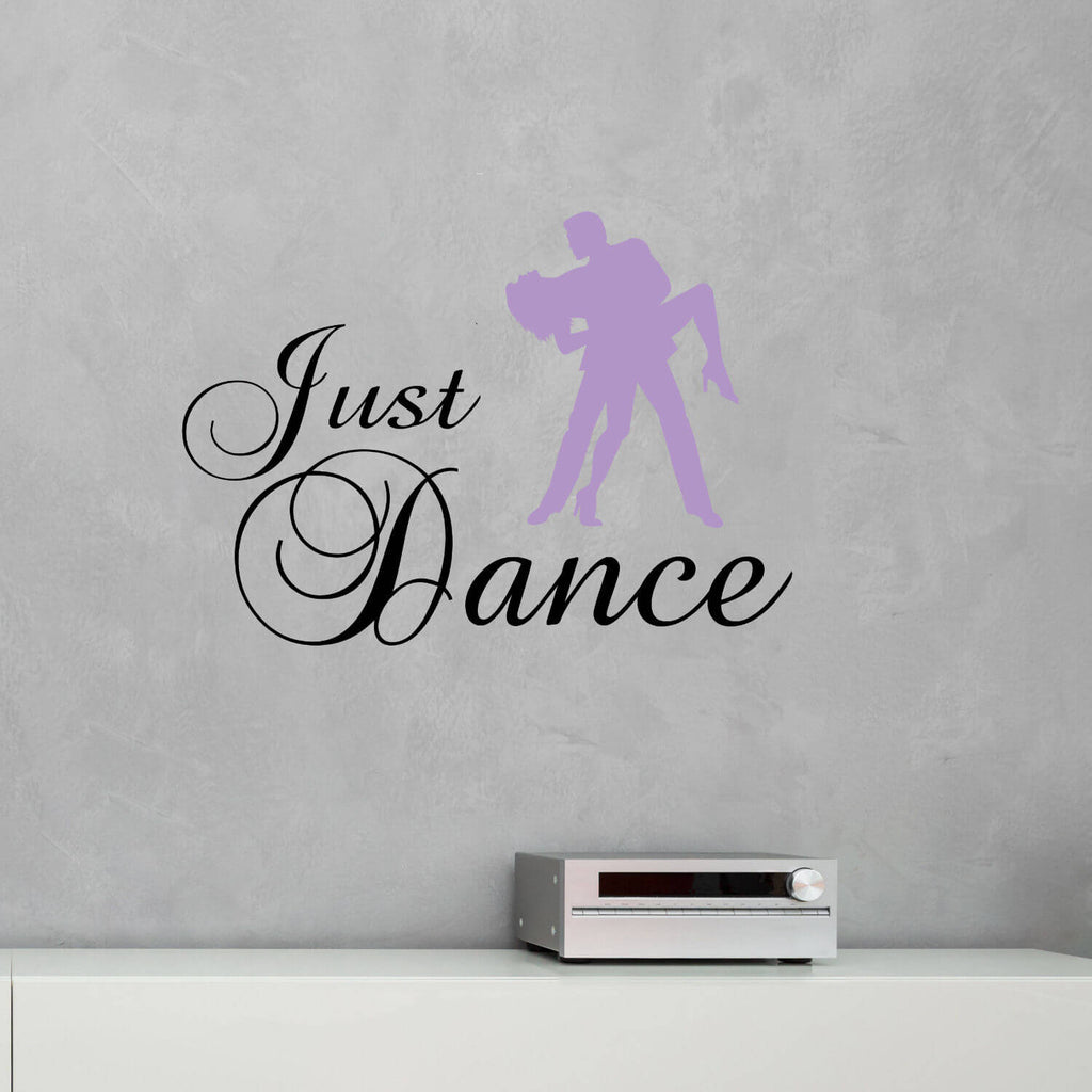 Just Dance with Couple Vinyl Wall Decal