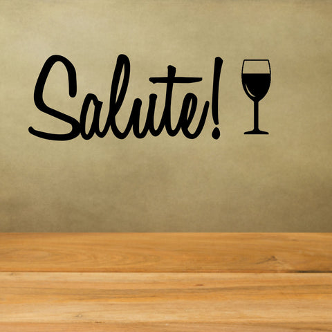 Salute with Wine Glass Wall Decal