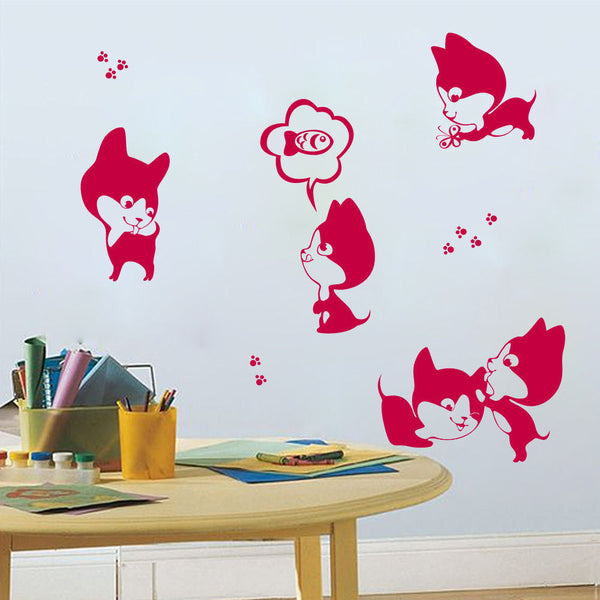 Kitten Party Vinyl Wall Decal Sticker