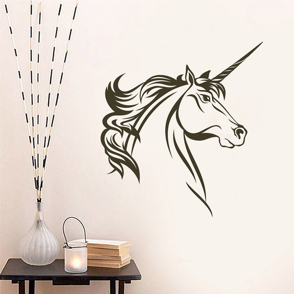 Unicorn Head Vinyl Wall Decal Sticker