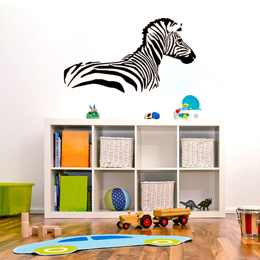 Zebra Wall Decal Sticker