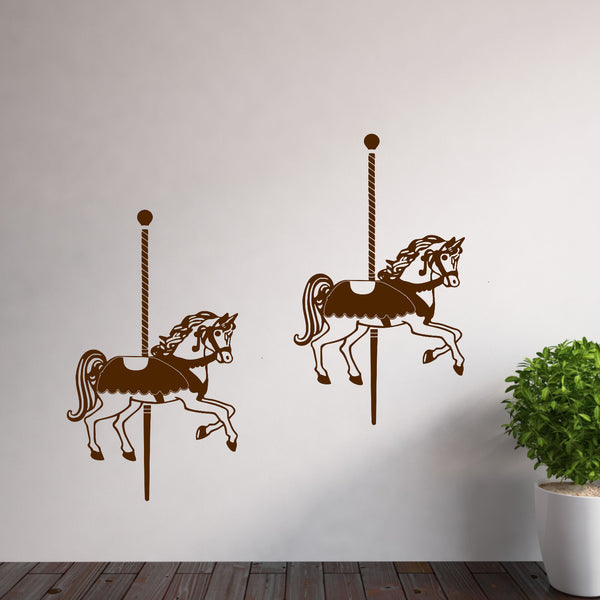 Carousel Horses Vinyl Wall Decal Set of (2)