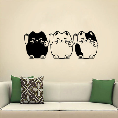 3 Cutie Kittens Wall Decal